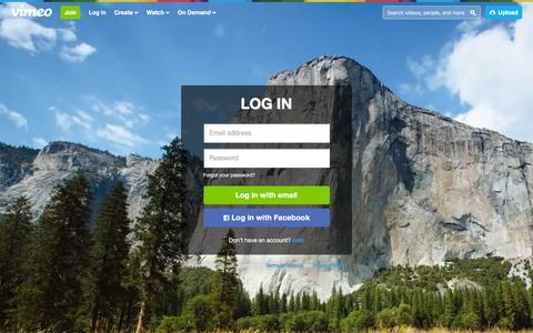 Screenshot of Login Page vimeo.com - Log in to Vimeo - captured Dec. 23, 2015