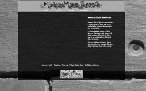 Screenshot of Products Page monsonslate.com - Maine Stone, Maine Slate, Maine Landscaping Stone - captured Nov. 5, 2014