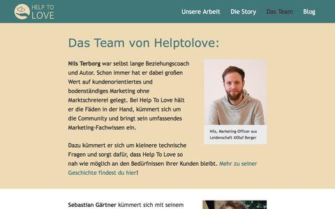 Screenshot of Team Page helptolove.de - Team - Help To Love - captured July 3, 2018
