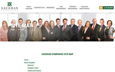 Screenshot of Site Map Page gaughancompanies.com - Site Map | Commercial Real Estate Experts | Gaughan Companies | Minneapolis/St. Paul, MN - captured May 15, 2017