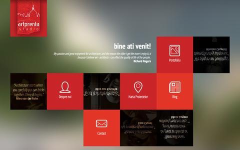 Screenshot of Home Page artprenta.ro - Artprenta   Arhitectura Design Interior Webdesign - captured Oct. 4, 2014