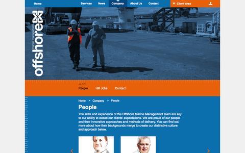 Screenshot of Team Page offshoremm.com - People   Offshore Marine Management - captured Oct. 26, 2014