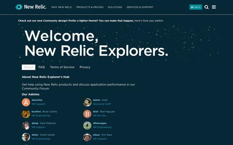 About - New Relic Explorer's Hub
