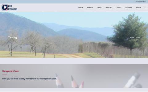 Screenshot of Team Page acdassociates.com - Team ACD Associates | Alan DeBusk | SDVOSB | Consulting - captured May 28, 2017
