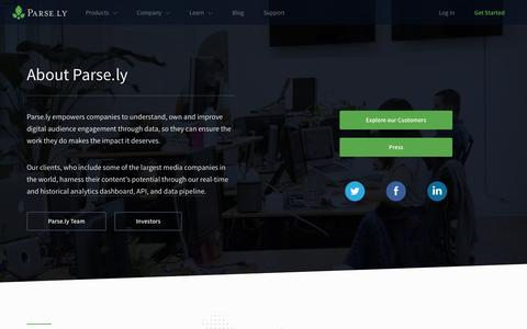 Screenshot of About Page parsely.com - Get to know Parse.ly | About Parse.ly - captured March 19, 2017