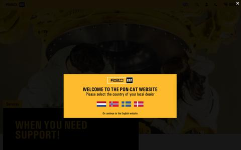 Screenshot of Services Page pon-cat.com - Services for Cat machines, engines and generators - Pon Cat - captured Dec. 15, 2018