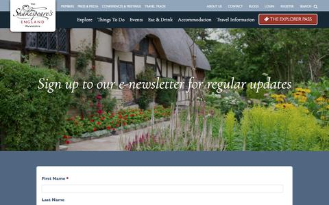 Screenshot of Signup Page shakespeares-england.co.uk - Join Us | Shakespeare's England - captured Nov. 15, 2017