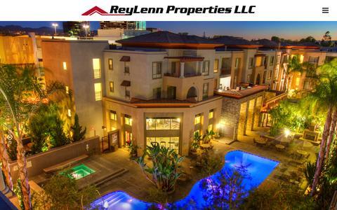 Screenshot of Home Page reylenn.com - Reylenn Properties, LLC   - captured Jan. 22, 2016