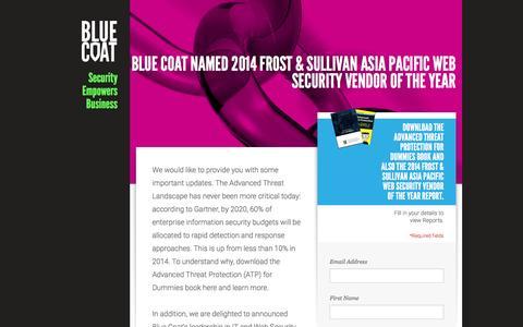 Screenshot of Landing Page bluecoat.com - Blue Coat - captured March 15, 2017