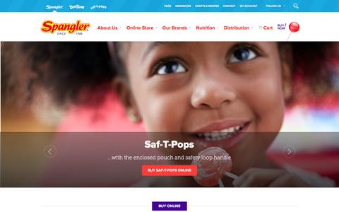 Screenshot of Home Page spanglercandy.com - Online Candy Store | Spangler Candy - captured Jan. 11, 2016