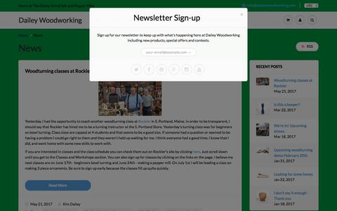 Screenshot of Press Page daileywoodworking.com - News – Dailey Woodworking - captured June 3, 2017