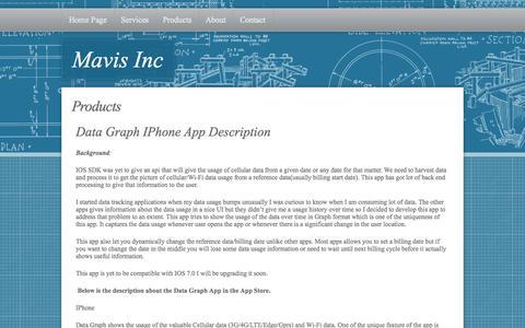Screenshot of Products Page mavistech.com - Contact - captured Oct. 4, 2014