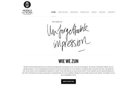 Screenshot of Home Page modelsatwork.nl - Models at Work - captured Aug. 16, 2016
