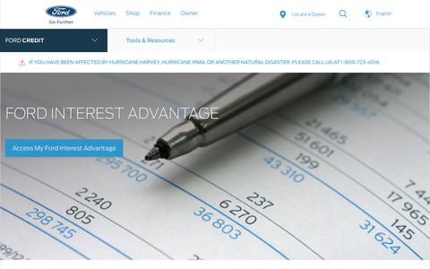 Ford Interest Advantage | Investor Center | Official Site of Ford Credit