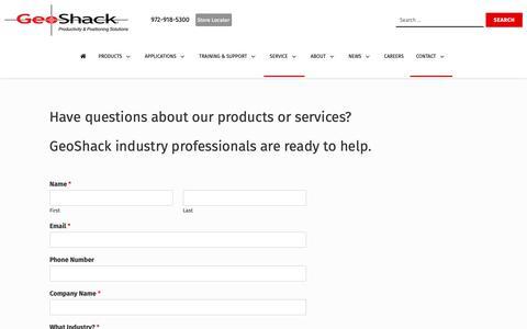 Screenshot of Contact Page geoshack.com - Contact Us - GeoShack - captured June 17, 2019