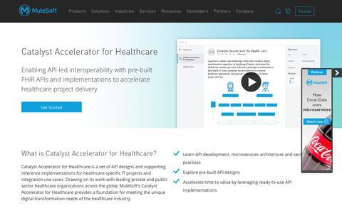 Catalyst Accelerator for Healthcare v2 | MuleSoft