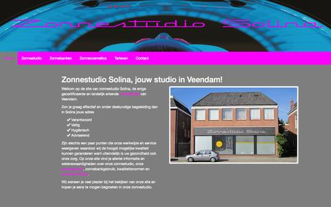 Screenshot of Home Page solina.nl - Zonnestudio Solina Veendam - captured Jan. 26, 2015