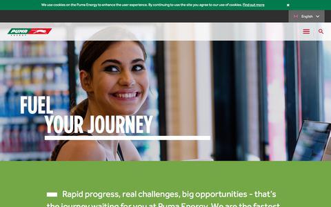 Screenshot of Jobs Page pumaenergy.com - Careers :: Puma - captured Sept. 19, 2017