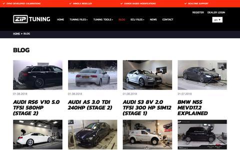 Screenshot of Blog ziptuning.com - ZIPtuning Blog - chiptuning, tuning en automotive blog - captured Oct. 4, 2018