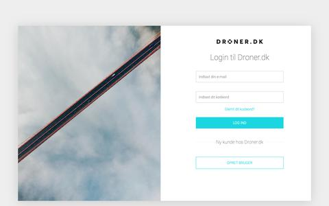 Screenshot of Login Page droner.dk - Log-ind - captured Oct. 9, 2018