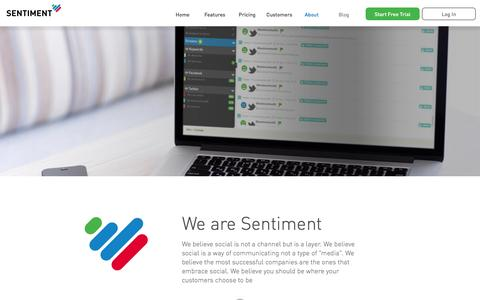 Screenshot of About Page sentimentmetrics.com - About Sentiment - captured Jan. 19, 2016