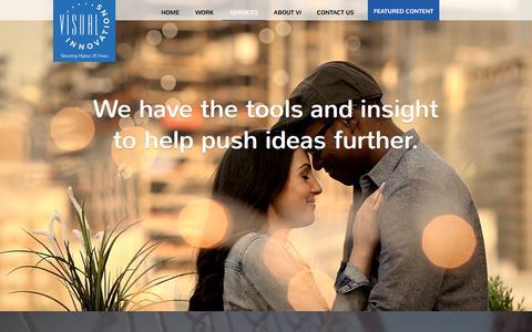 Screenshot of Services Page visualin.com - Visual Innovations | Services - captured Nov. 8, 2017