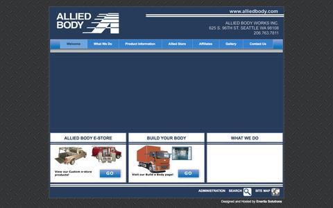 Screenshot of Home Page alliedbody.com - Allied Body - captured Feb. 5, 2016
