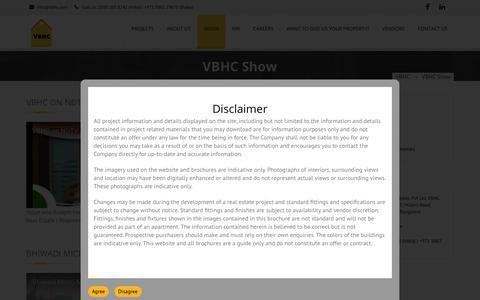 Screenshot of Press Page vbhc.com - VBHC Value Homes on NDTV Profit - captured June 29, 2017