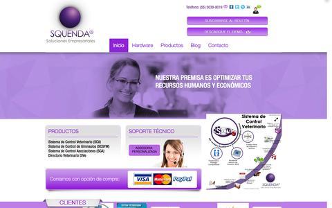 Screenshot of Home Page squenda.com.mx - Squenda   Soluciones Empresariales - captured Oct. 7, 2014