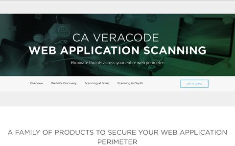 Veracode Web Application Scanning | Veracode
