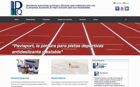 Screenshot of Home Page puntquimic.com - Punt Químic - captured Sept. 30, 2014
