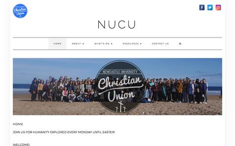 Screenshot of Home Page newcastle-cu.com - Newcastle University Christian Union - captured June 10, 2018