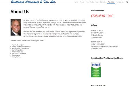 Screenshot of About Page southland-tax.com - About Us | Southland Accounting & Tax - captured Oct. 7, 2014