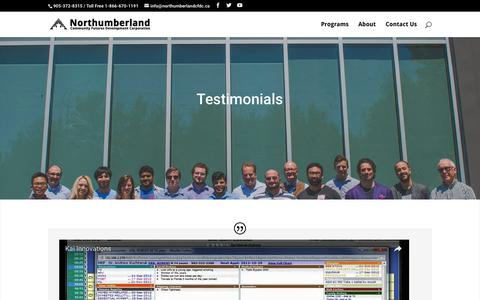 Screenshot of Testimonials Page financingandstrategy.com - Testimonials | Financing and Strategy for Entrepreneurs - captured Sept. 24, 2016