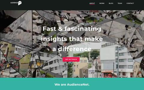 Screenshot of Home Page audiencenet.co.uk - AudienceNet – Connected research for a connected world - captured Dec. 9, 2018