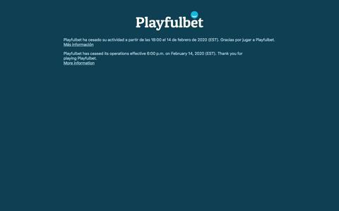 Screenshot of Home Page playfulbet.com - Playfulbet - captured Feb. 17, 2020