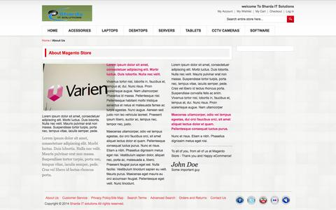 Screenshot of About Page shardaitsolutions.co.in - About Us - captured Sept. 30, 2014
