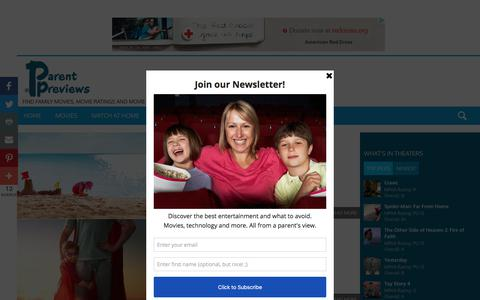 Screenshot of Press Page parentpreviews.com - Parents Media & Technology Guide - captured July 12, 2019