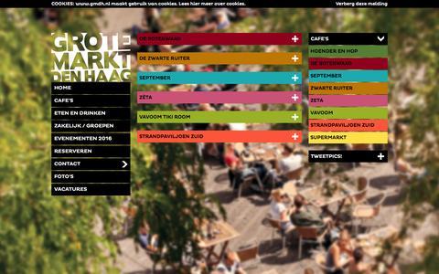 Screenshot of Contact Page gmdh.nl - Grote Markt Den Haag - Het gezelligste plein van Nederland met de September, Vavoom, de Zwarte Ruiter, de Boterwaag, de Zéta en de Supermarkt! #GMDH - captured Feb. 2, 2016