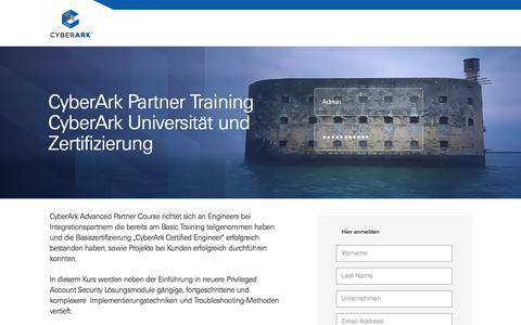 Screenshot of Landing Page cyberark.com - CyberArk - captured March 22, 2018