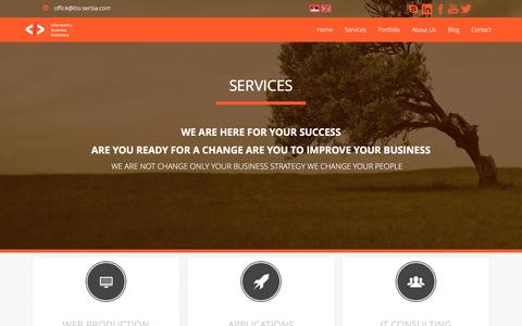 Screenshot of Services Page ibs-serbia.com - Services - IBS-Serbia - captured Nov. 26, 2016