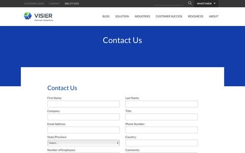Contact Us | Visier Inc.