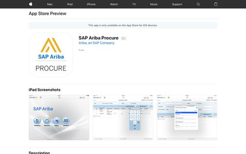 SAP Ariba Procure on the App Store