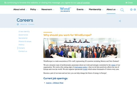 Screenshot of Jobs Page windeurope.org - Careers | WindEurope - captured May 4, 2017