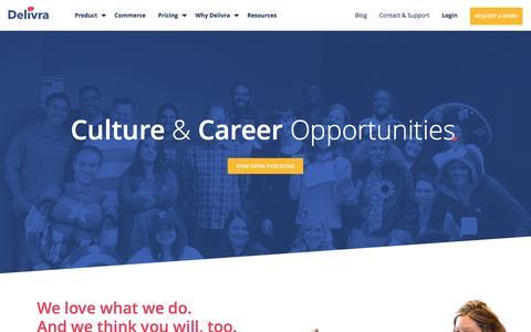 Screenshot of Jobs Page delivra.com - Careers - Delivra - captured Aug. 1, 2016