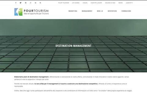 Screenshot of Team Page fourtourism.it - Elaboriazione piani di destination management - captured Feb. 9, 2016
