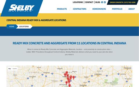 Screenshot of Locations Page shelbymaterials.com - Locations | Shelby Materials - captured Jan. 13, 2016