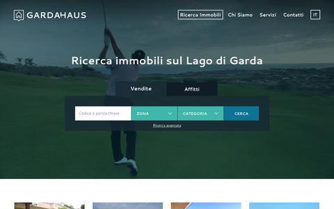 Screenshot of Home Page gardahaus.it - Garda Haus - Immobili sul Lago di Garda - captured Jan. 25, 2016