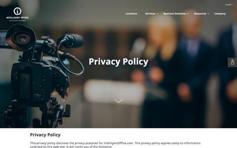 Screenshot of Privacy Page intelligentoffice.com captured Oct. 3, 2017