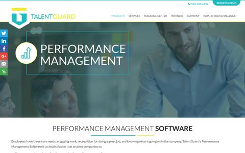 Screenshot of Products Page talentguard.com - Performance Management Software | TalentGuard - captured Oct. 18, 2018